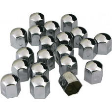 Wheel bolt caps (covers) 19mm Slim (Chrome)