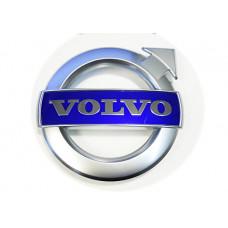 125mm HROME Circle Volvo GRILL BADGE LOGO Genuine Volvo C30, C70, S40, S60, S80, V40, V50, V60, V70, XC70, XC90