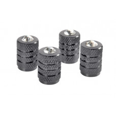 Tyre valve caps (Gun metal + Brilliant)