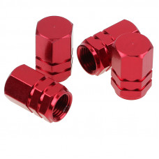 Tyre valve caps (Red)