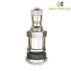 Metal clamp-in tubeless tire valve (length 41,5mm, wheel valve bore 11.5mm)