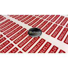 3D stickers with Custom Logo