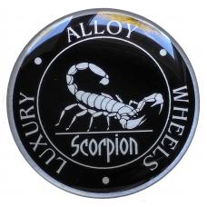 Scorpion 3D wheel cap stickers