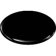 Black 3D wheel cap stickers