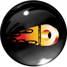 FIRE DISKIEM.LV 3D sticker