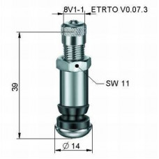 Valve for Alloy wheels Ø 8,3 x 38,5 mm