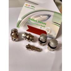 Hidden valve set for Alloy wheels