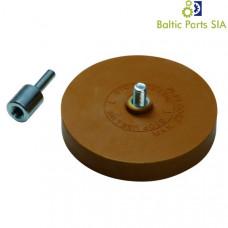 Alloy disk cleaner rubber wheel